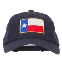 Embroidered Cap - Texas Flag Embroidery Washed Cap