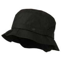Bucket - Black Mens UV 50+ Lined Bucket Hat