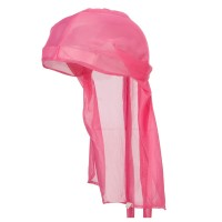 Wrap - Dark Pink Satin Durag Cap