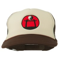 Embroidered Cap - Yin Yang Embroidered Foam Cap | Free Shipping | e4Hats.com