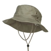 Outdoor - Olive Brushed Twill Aussie Hats