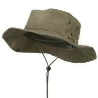 Outdoor - Khaki Brushed Twill Aussie Hats