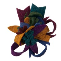 Pin , Badge - Purple Fall Bright Corsage Pin , Clip