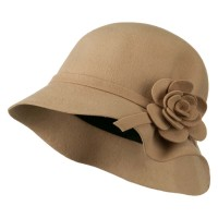 Bucket - Wool Flower Crushable Hat | Free Shipping | e4Hats.com