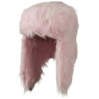 Trooper - Pink Woman's Faux Fur Trooper Hat