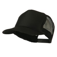 Ball Cap - Black Royal Foam Front Mesh Cap