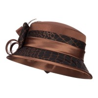 Dressy - Pecan Cloche Flat Top Fashion Hat