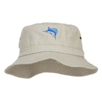 Bucket - Sailfish Embroidered Big Bucket Hat | Free Shipping | e4Hats.com