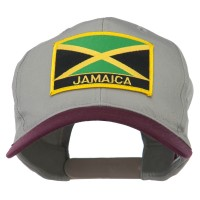 Embroidered Cap - Jamaica Flag Two Tone Patched Cap | Free Shipping | e4Hats.com