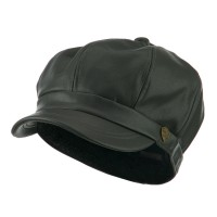 Newsboy - Dark Grey Faux Leather Spitfire Hat