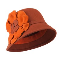 Dressy - Flower Wool Felt Cloche Hat | Free Shipping | e4Hats.com