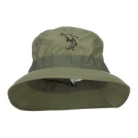 Bucket - Olive Fly Fishing Embroidered Big Hat
