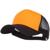 Ball Cap - Black Orange Neon Polyester Foam Big Bize Cap