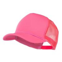 Ball Cap - Neon Pink Summer Foam Mesh Trucker Cap
