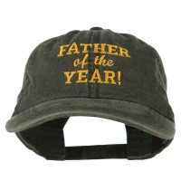 Embroidered Cap - Father of the Year Washed Cap | Free Shipping | e4Hats.com