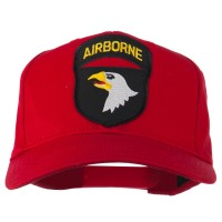 Embroidered Cap - Red 101st Airborne Patched Cap