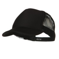 Ball Cap - Black Youth Foam Golf Mesh Cap