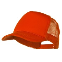 Ball Cap - Orange Youth Foam Golf Mesh Cap