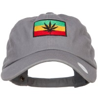 Embroidered Cap - Rasta Leaf Flag Embroidered Cap   Free Shipping   e4Hats.com