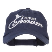 Embroidered Cap - Navy Future Groom Embroidered Cap