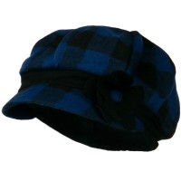 Newsboy - Blue Flower Short Brim Newsboy Hat