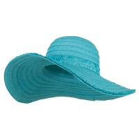 Dressy - Fringed End Ribbon Straw Hat | Free Shipping | e4Hats.com