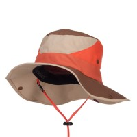 Outdoor - Orange Roll Up Folded Brim Outdoor Hat