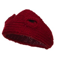 Band - Red Girl's Knit Ear Headband