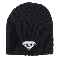 Beanie - Navy Big Size Diamond Embroidered Beanie