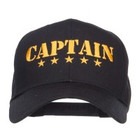 Embroidered Cap - Stars Captain Embroidered Cap