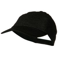 Embroidered Cap - Black Glitter Baseball Cap