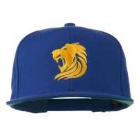 Embroidered Cap - Gold Lion Embroidered Wool Cap | Free Shipping | e4Hats.com