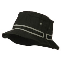 Bucket - Black Grey Striped B, Fisherman Bucket Hat