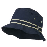 Bucket - Navy Khaki Striped B, Fisherman Bucket Hat