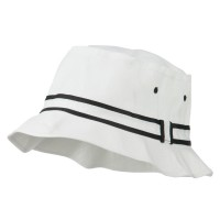 Bucket - White Black Striped B, Fisherman Bucket Hat