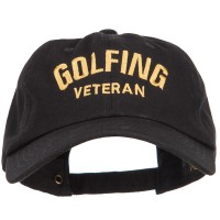 Embroidered Cap - Golfing Veteran Embroidered Cap | Free Shipping | e4Hats.com