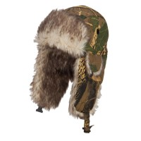 Trooper - Maple Camouflage Bomber Fur Trooper Hat
