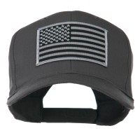 Embroidered Cap - Charcoal Grey American Flag Patched Profile Cap