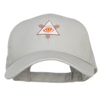 Embroidered Cap - Grey All Seeing Eye Embroidered Big Cap | Coupon Free | e4Hats.com