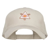 Embroidered Cap - Putty All Seeing Eye Embroidered Big Cap | Coupon Free | e4Hats.com