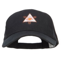 Embroidered Cap - Black All Seeing Eye Embroidered Big Cap | Coupon Free | e4Hats.com