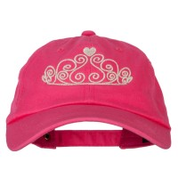 Embroidered Cap - Glitter Tiara Embroidery Cotton Cap