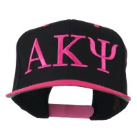 Embroidered Cap - Pink Black Alpha Kappa Psi Embroidered Cap