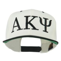 Embroidered Cap - Natural Black Alpha Kappa Psi Embroidered Cap