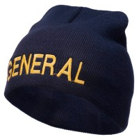 Beanie - General Embroidered Short Beanie