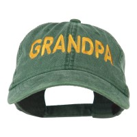 Embroidered Cap - Grandpa Embroidered Washed Cap | Free Shipping | e4Hats.com
