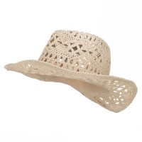 Western - Tan Girl's Paper Braid Cowboy Hat