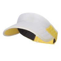 Visor - Yellow Golf Roll Up Sun Visor