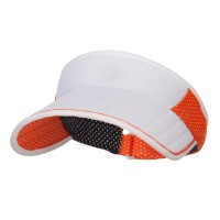Visor - Orange Golf Roll Up Sun Visor