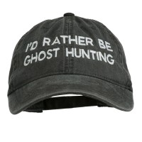 Embroidered Cap - Black Rather Be Ghost Embroidered Cap